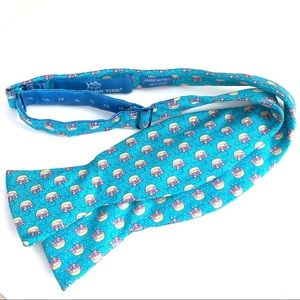 Southern Tide Bow tie bowtie silk turquoise pink